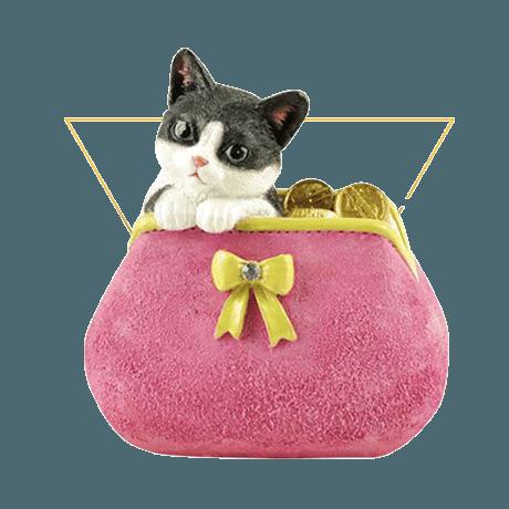 Decorative Polyresin Cute Cat Figurine, Resin Cat Model, Polyresin Cat Sculpture