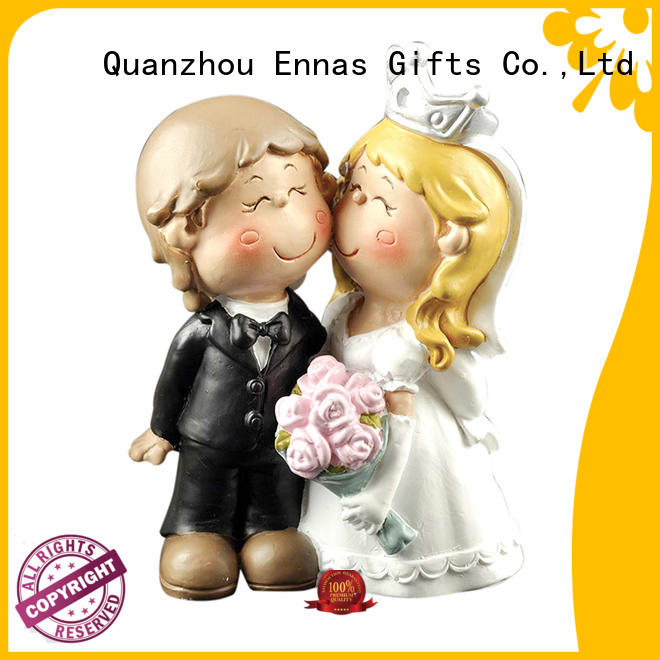 Ennas precious funny wedding cake toppers hot-sale from best factory