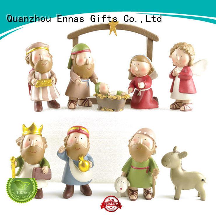 Ennas christmas church figurine hot-sale craft decoration