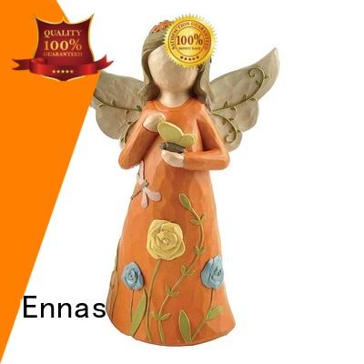 Ennas artificial personalized angel figurine lovely for ornaments