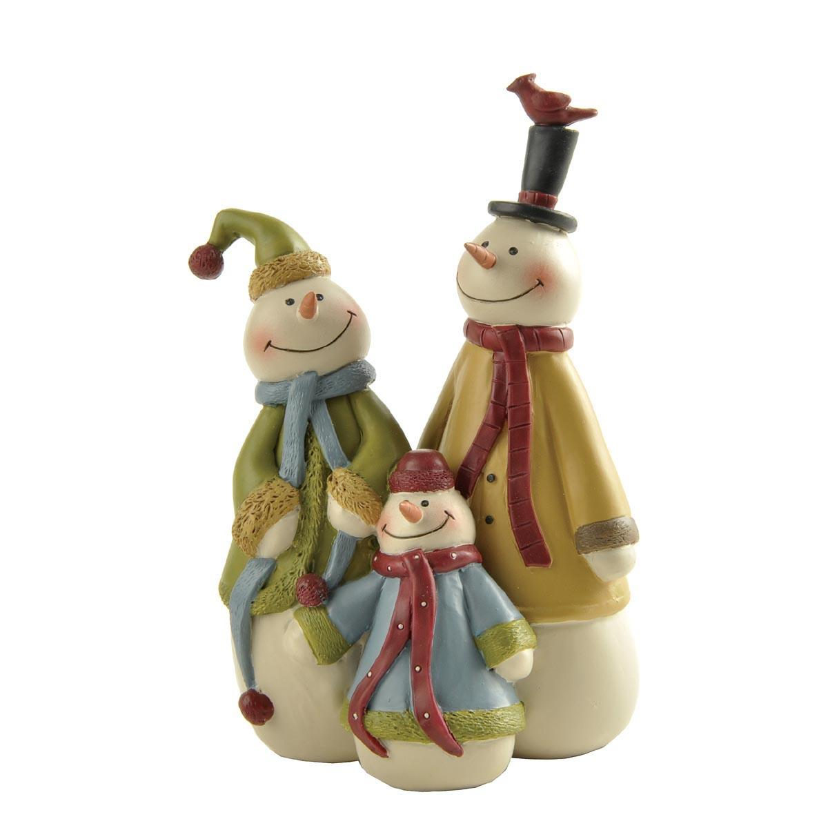 3d animated christmas figures family for ornaments