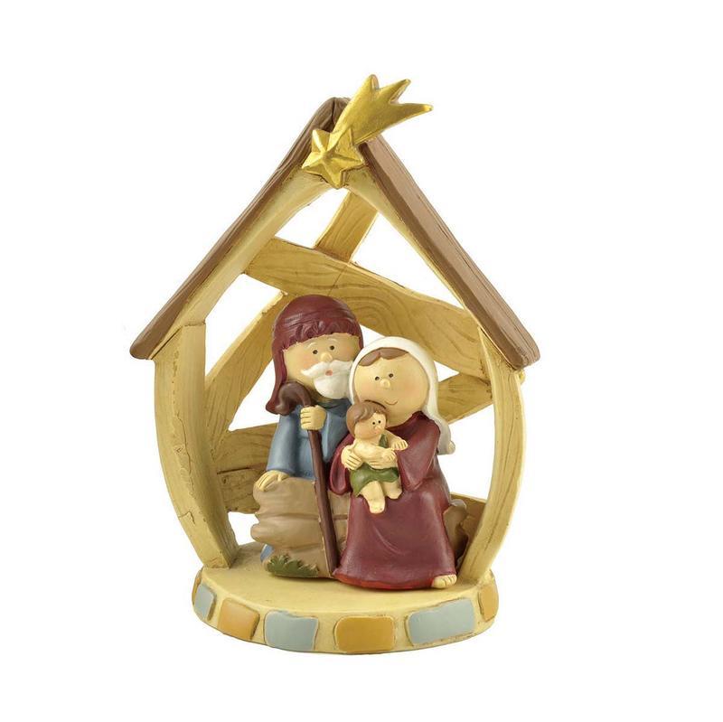 custom sculptures nativity set with stable catholic bulk production family decor