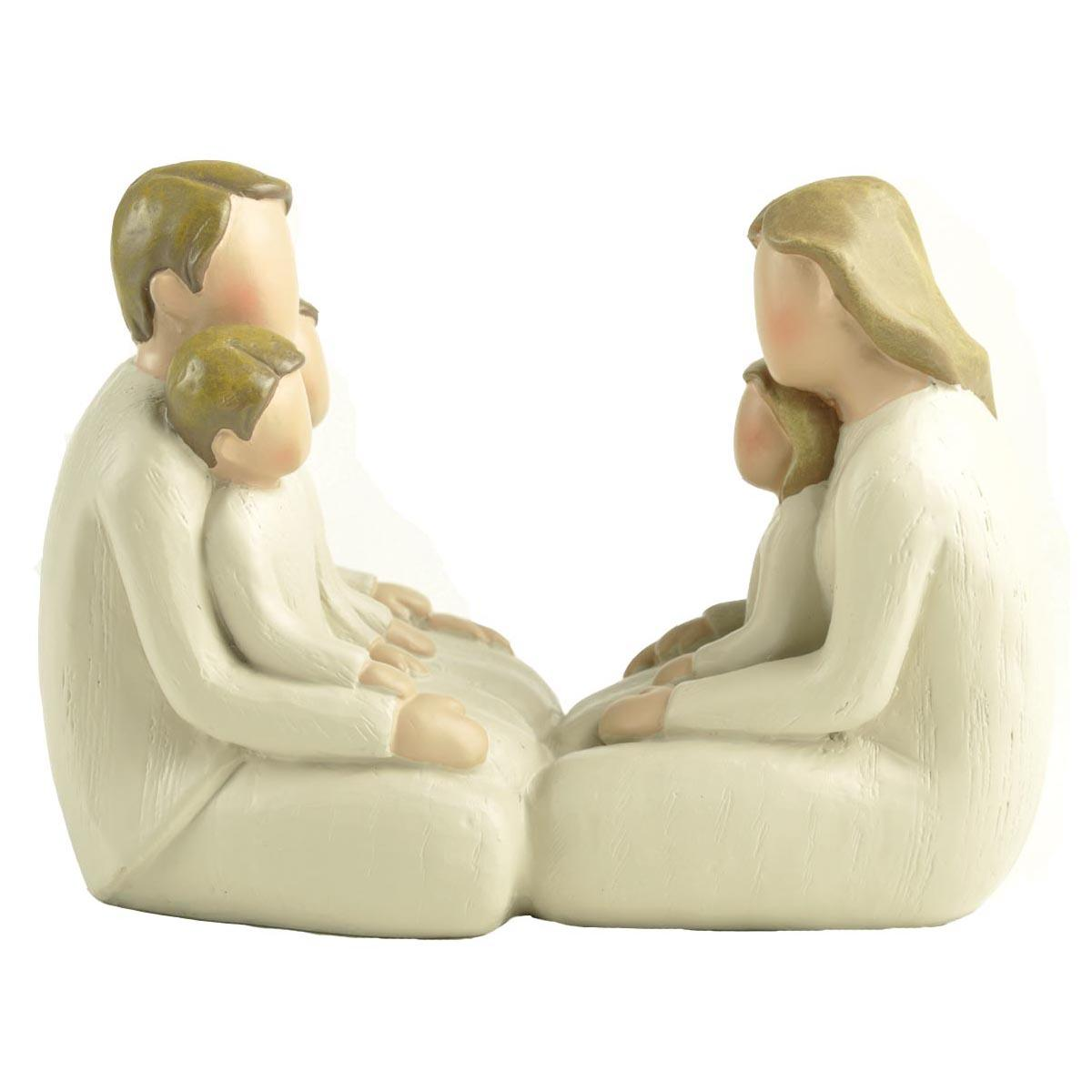 Family Statue Precious Moments Figurines, Together with Dad,Mom,Sons,Daughter