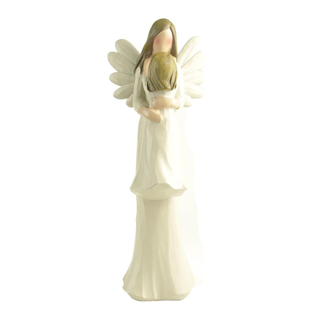Angel Figurines Living Room Accessories Mom and Daughter Statue Vintage Home Decor Family Miniature Girl Bedroom Decoration