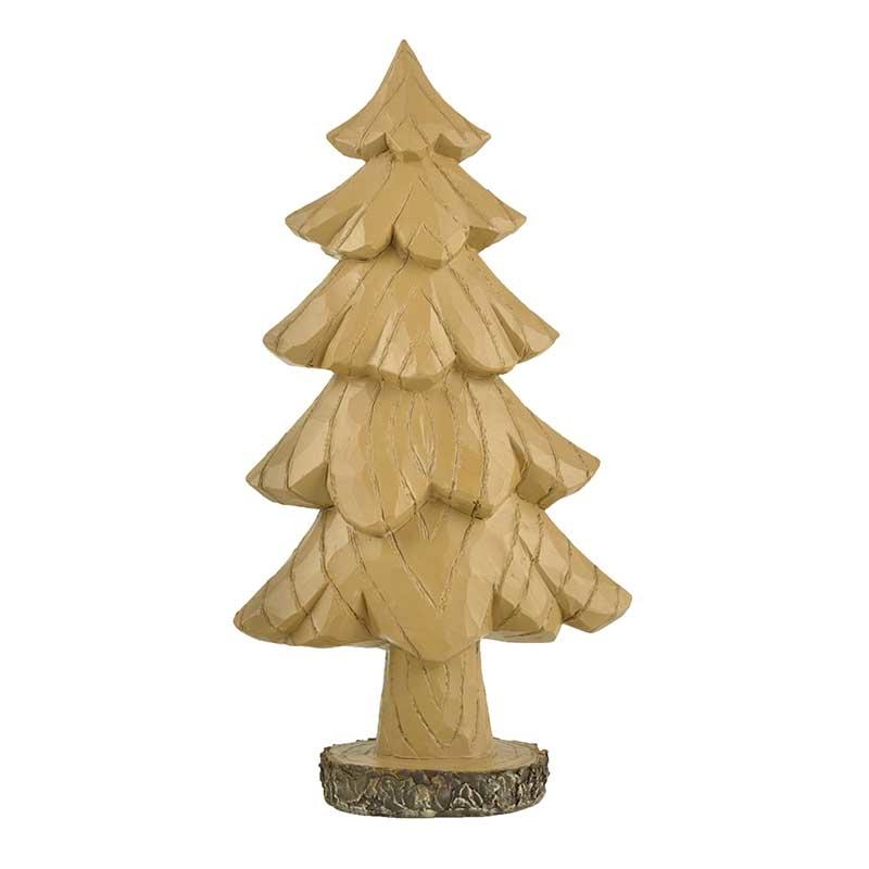Large Tree on the Stump Base Christmas Figurines