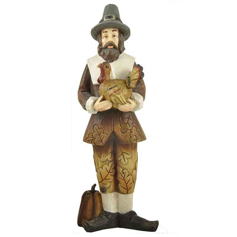 Fall Gifts Autumn Decoration Holding Turkey Man Figure