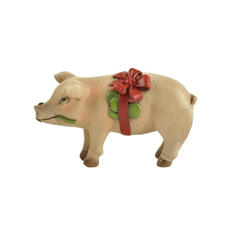 Home Decoration Polyresin Pig Figure Farm Animal Gifts