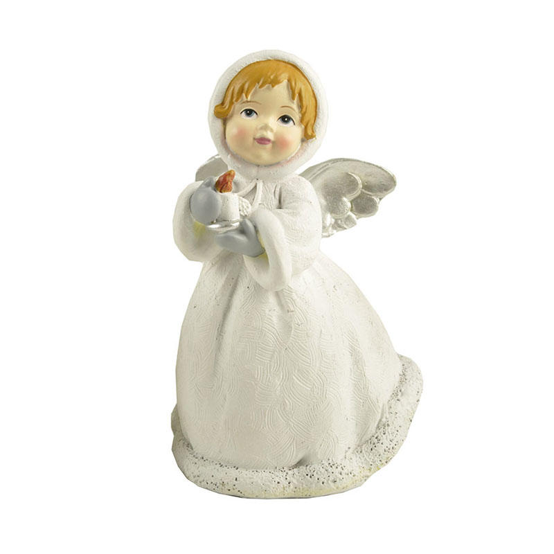 carved angel figurine colored best crafts