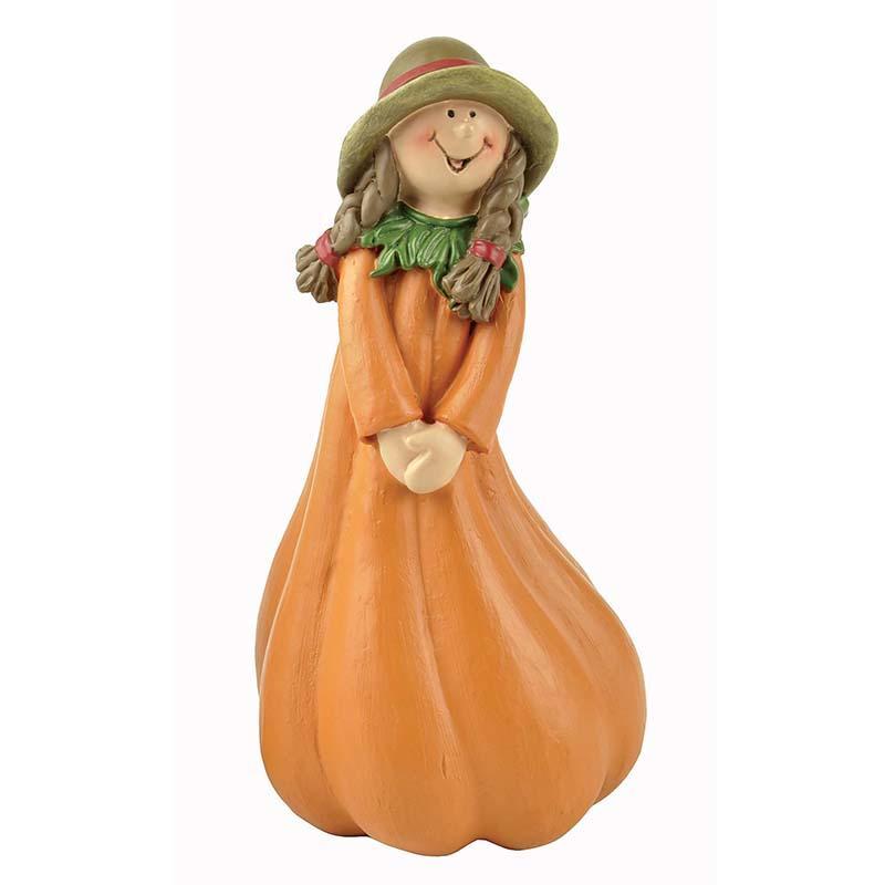 Fairy Garden Farm Harvest Pumpkin Girl Figurine