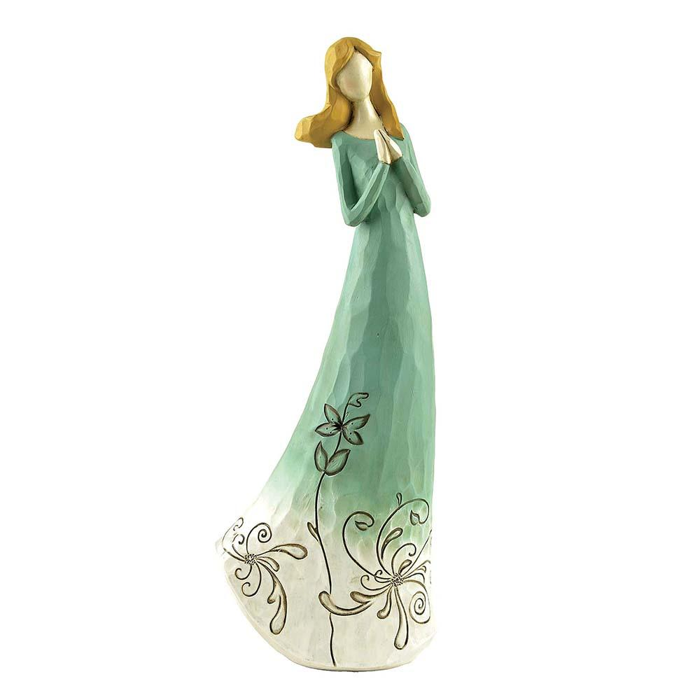 Beautiful Resin Angel Ornaments Crafts Artificial Flower Fairy Figurines