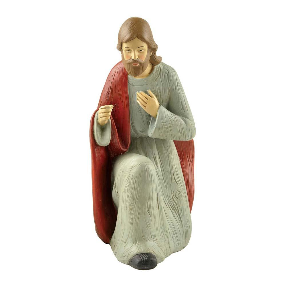Religious Sculptures Crafts Polyresin Squating Jesus Statue