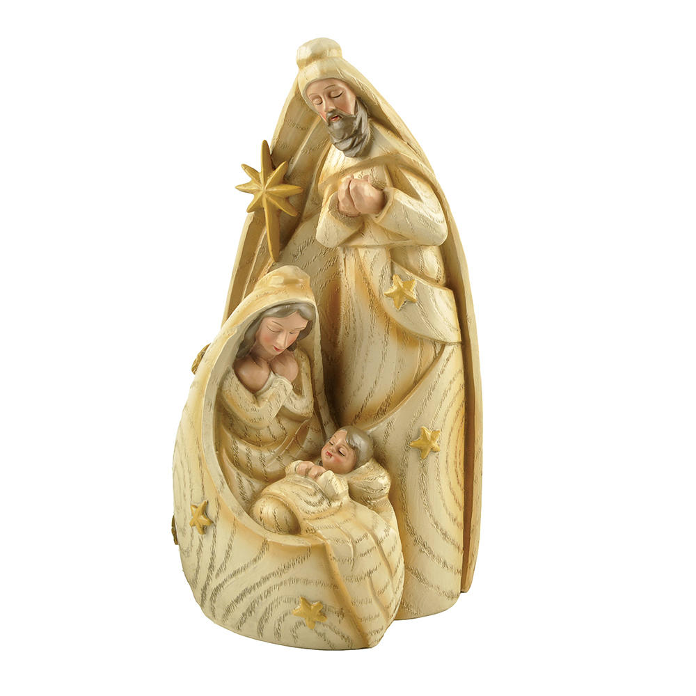 Low MOQ Decorations Figurine Resin Religious Nativity Holy Family Set
