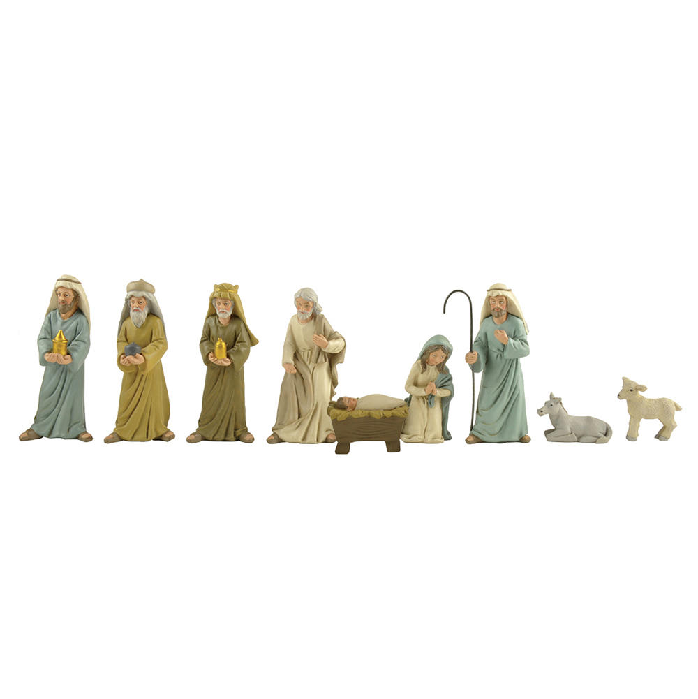 OEM Gift Souvenirs Holy Family Polyresin Figurines Set Christmas Nativity Set for Sale