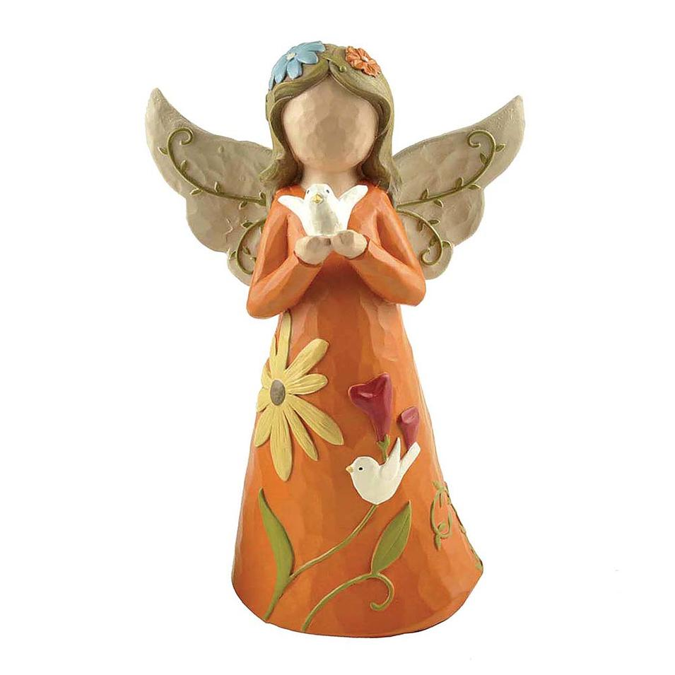 Peace Pigeon Design Resin Colorful Angel for Decoration