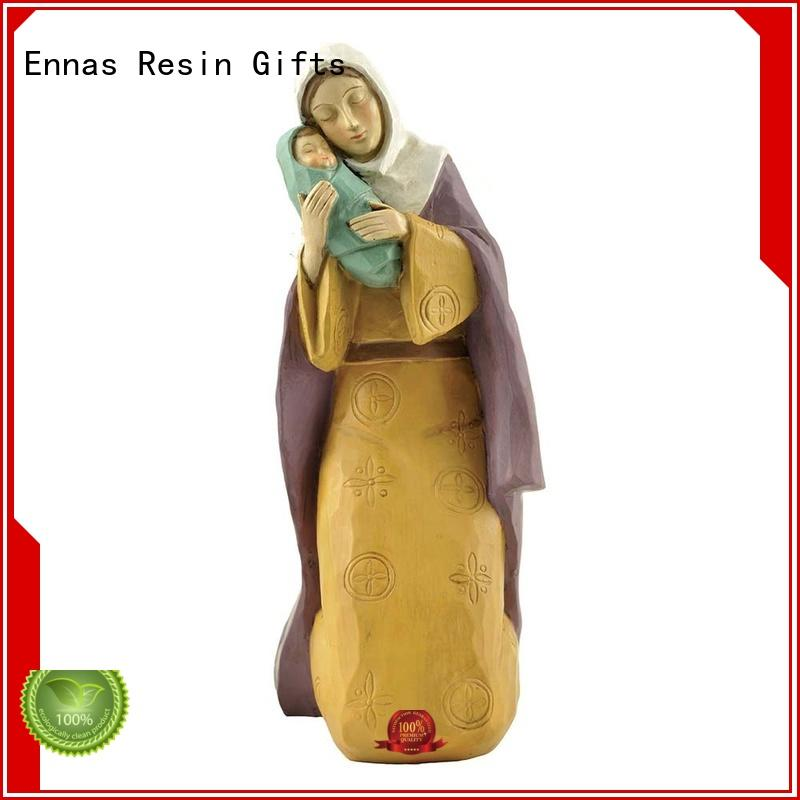 Ennas eco-friendly nativity set figurines promotional craft decoration