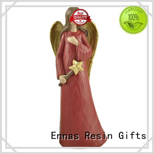 Ennas resin angel christmas ornaments for wholesale
