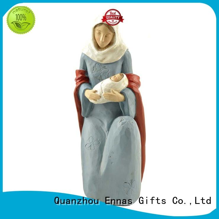 Resin Mary Statue with Baby Jesus