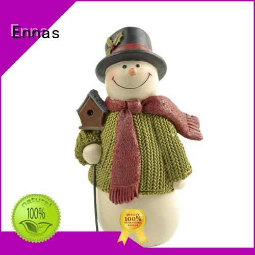 Collectible Christmas Ornaments Decoration Polyresin Snowman figurine with bird house