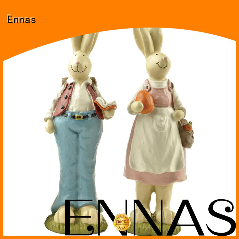 easter rabbit statues home decor