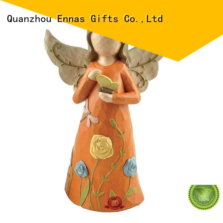 Ennas carved angel statues indoor unique at discount