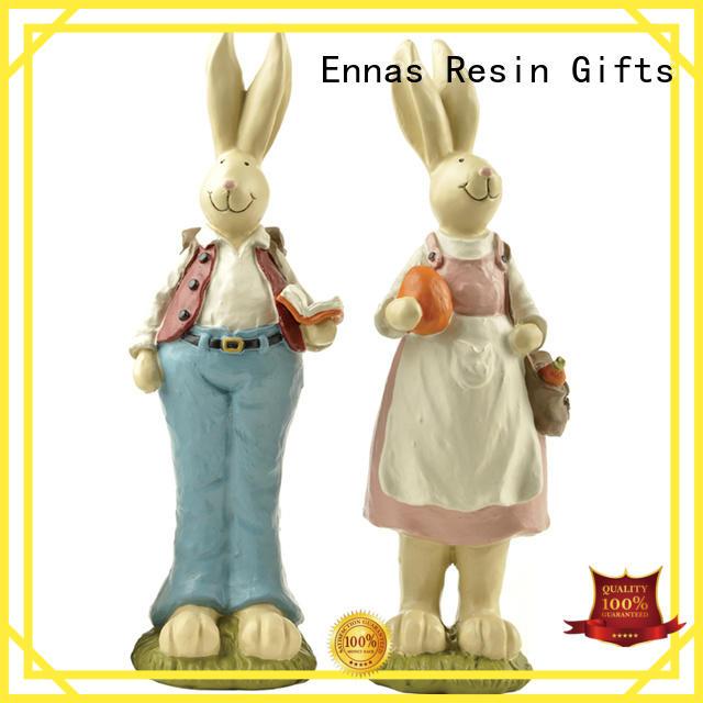 Ennas decorative easter rabbit figurines handmade crafts micro landscape