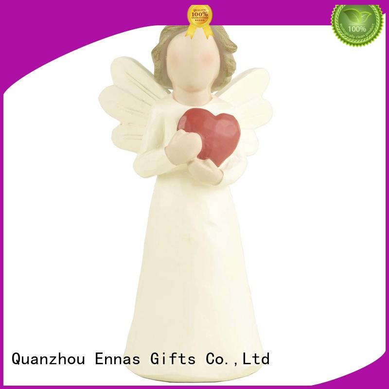 carved small angel figurines vintage for decoration