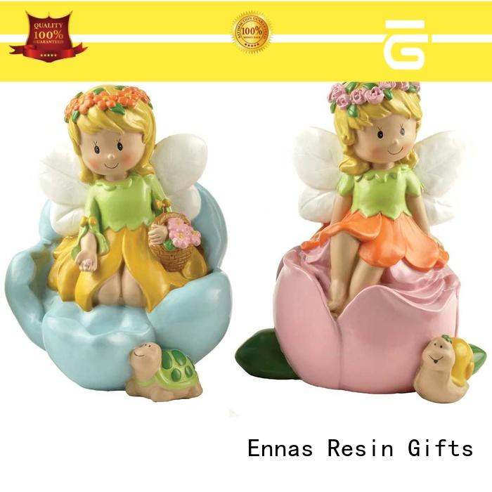 Eco Friendly Polyresin Fairy Figurine Shape Coin Bank Festival Promotional Gift Money Saving Box