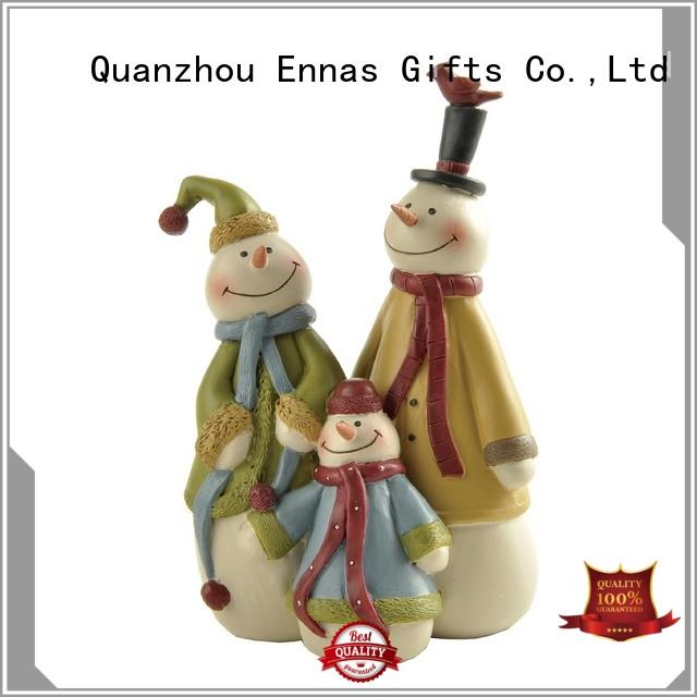 Christmas Decoration Resin Crafts Snowman Family Figurine