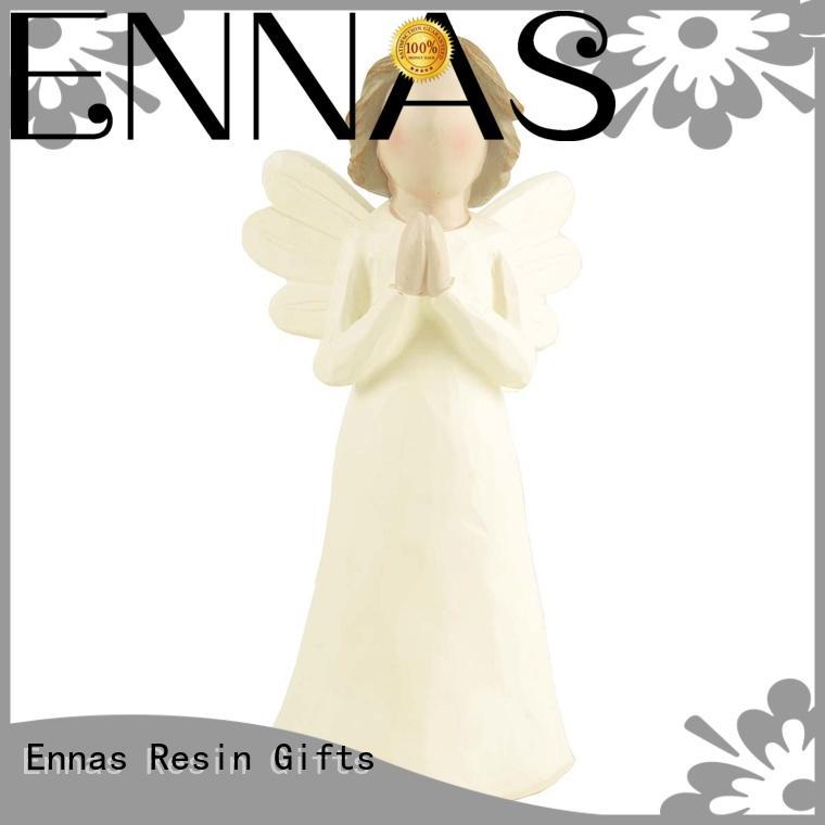 Ennas carved angel wings figurines vintage fashion