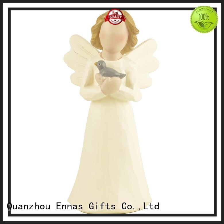 Ennas carved angel figurines collectible handmade for ornaments