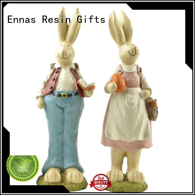Ennas hot-sale resin easter bunnies oem for holiday gift