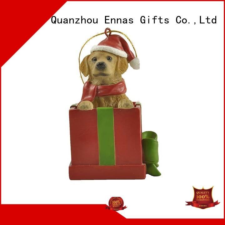 Ennas resin collectable christmas ornaments popular bulk production