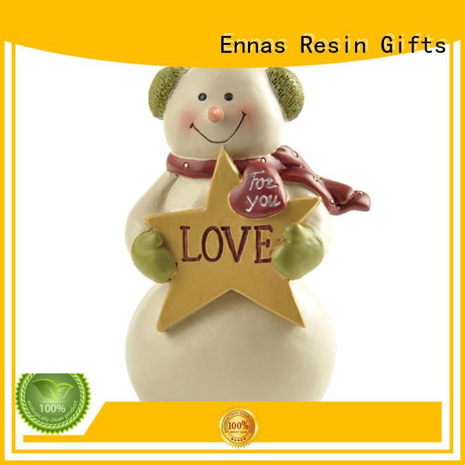 Ennas decorative small christmas figurines polyresin bulk production