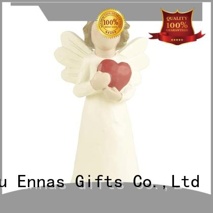 Ennas religious small angel figurines colored for ornaments