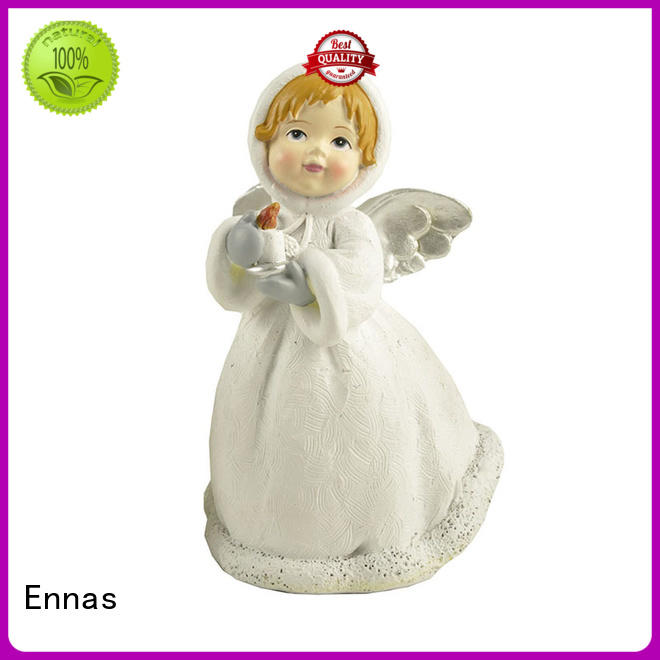 Ennas holding candle nativity set figurines bulk production family decor