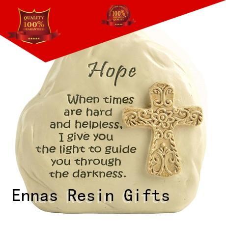 Ennas eco-friendly christian figurines promotional family decor