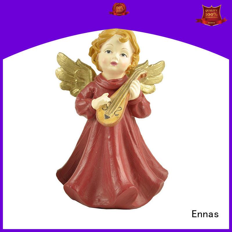 Ennas carved popular angel figurines handmade for ornaments