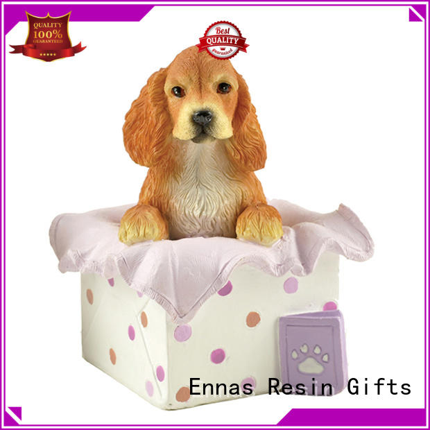 Hot Polyresin Material Dog Figurine Handmade 3D Realistic Home Decor Resin Craft