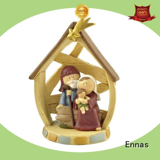 Ennas custom sculptures nativity set figurines bulk production family decor
