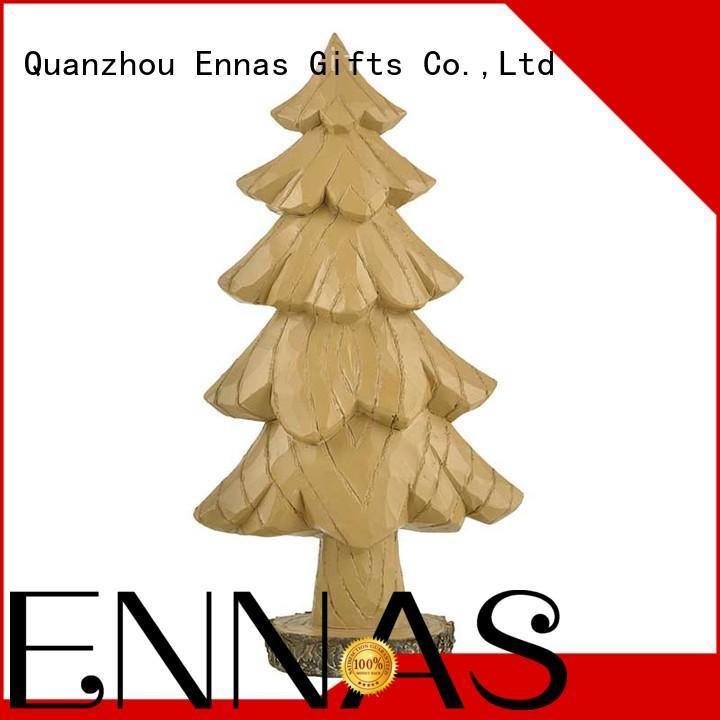 Large Tree on the Stump Base Christmas Figurines
