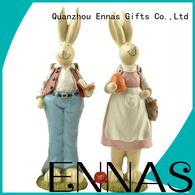 Cute Rabbit Figurine Home Decor Bunny Micro Landscape Easter Decoration Gift 2PCS Couple Easter Rabbits with a Book & Bag