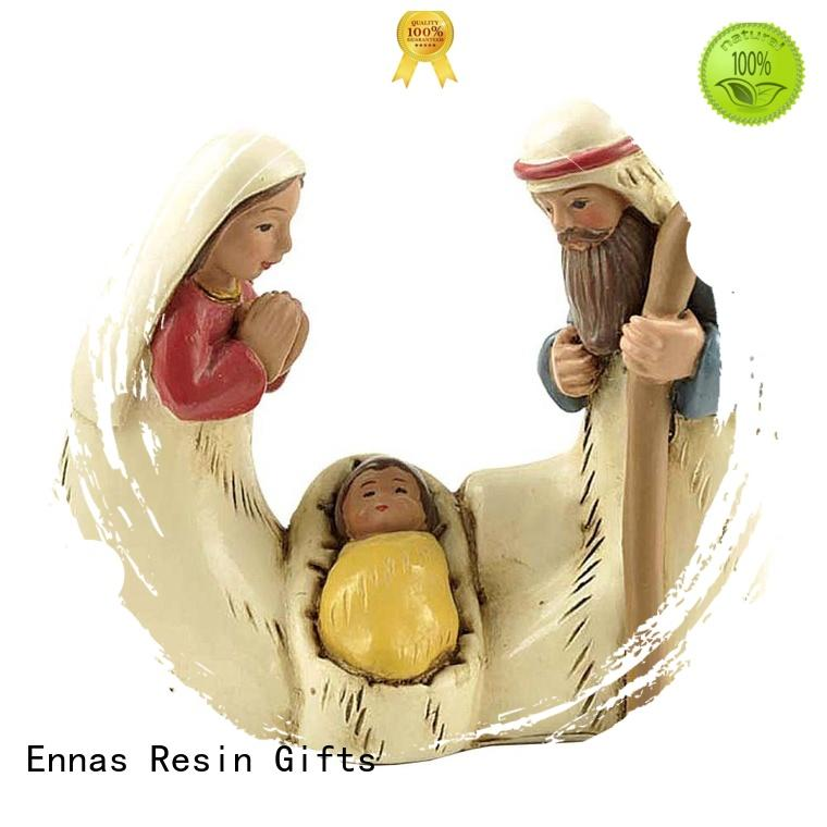 Ennas christmas christian figurines popular holy gift