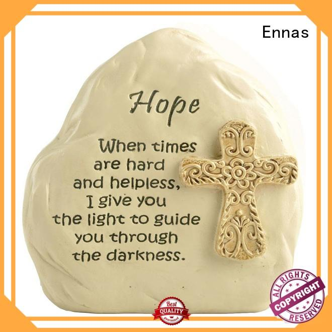Ennas eco-friendly church figurine promotional craft decoration