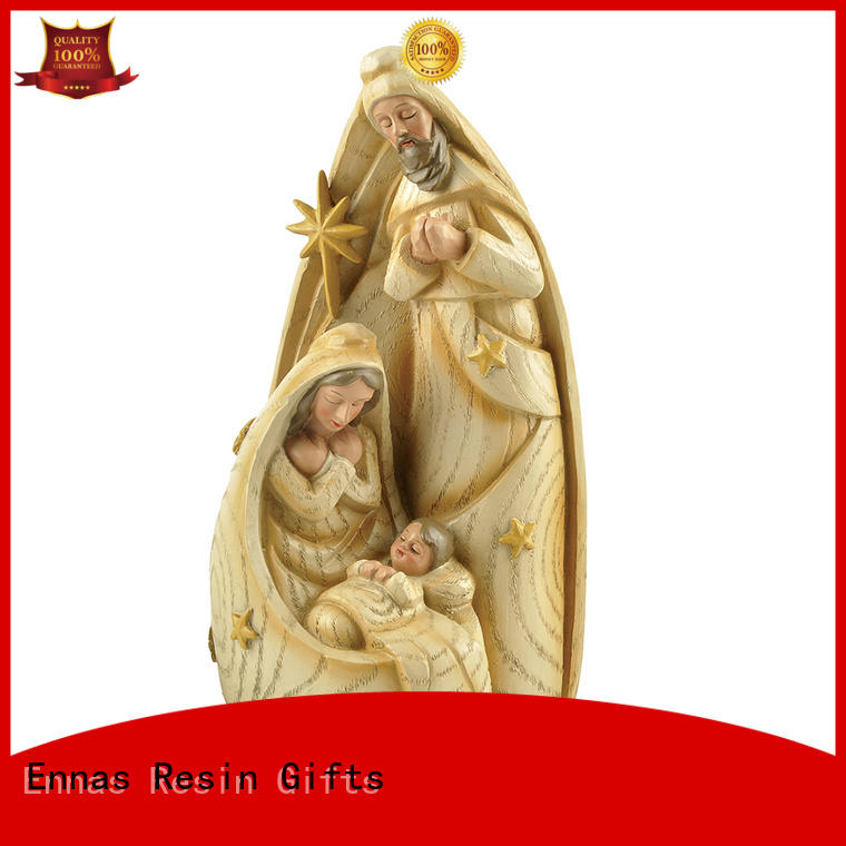 Ennas holding candle religious sculptures popular holy gift