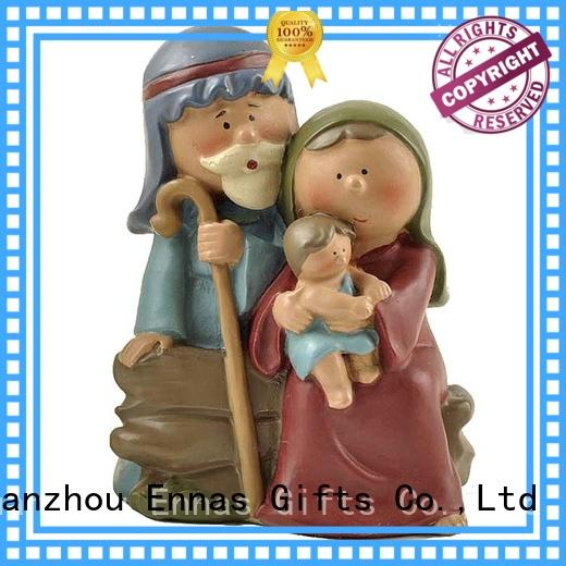 Polyresin Religious Holy Family Nativity Set Craft For Decoration