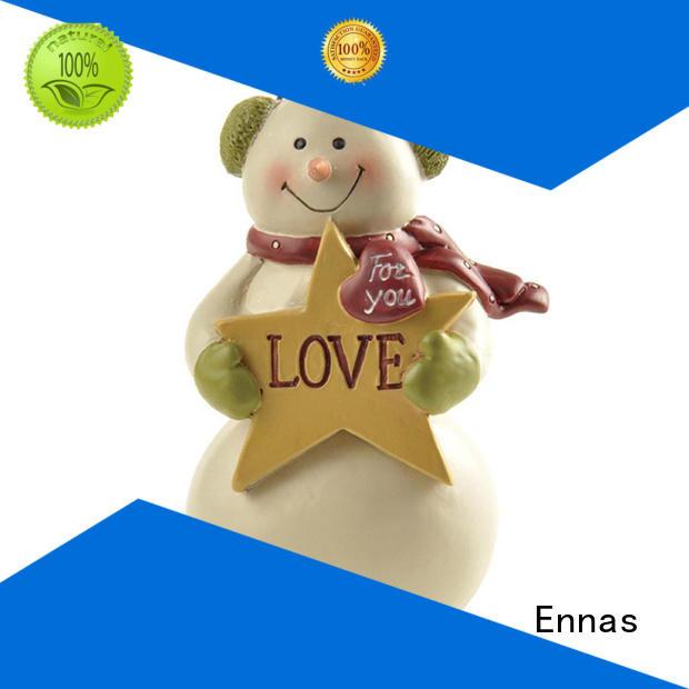 Snowman with Ear Muff Holding Star Mini Christmas Figurines