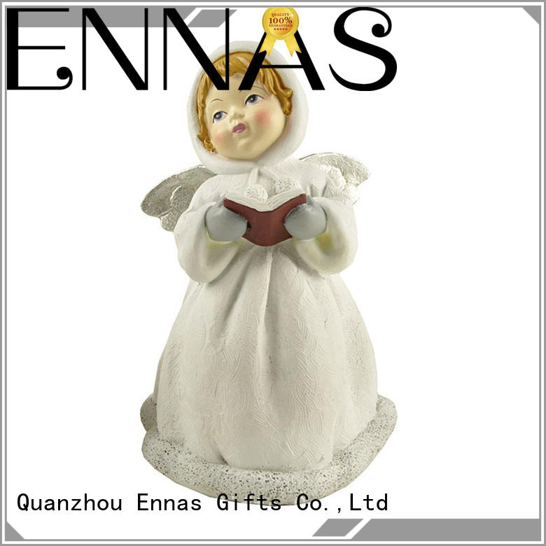 Ennas hand-crafted memorial angel figurines colored at discount