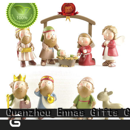 Christian Mini Sets 10pcs Christmas Nativity Scene includes Manger, Joseph, Jesus, Mary and Wisemen