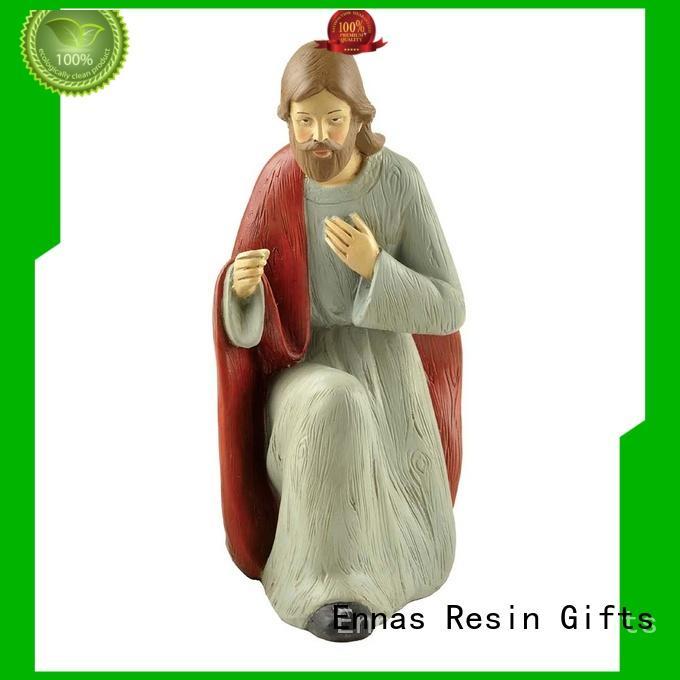 Ennas holding candle catholic figurines popular holy gift