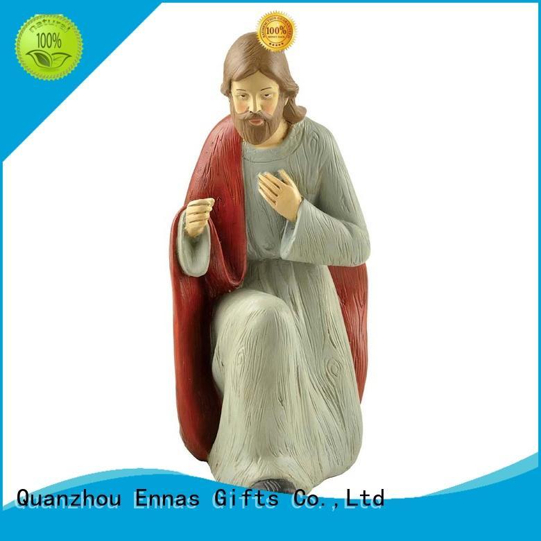 Ennas holding candle catholic figurines popular family decor